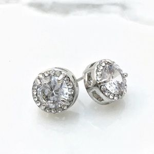 Top Quality CZ Round Stud Earrings